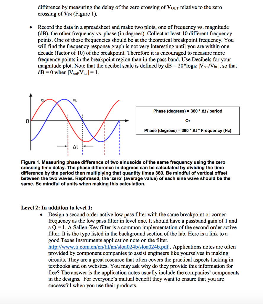 Solved Prelab Part One Draw A Schematic Of The Low Pass Filter Diagram See More Show Transcribed Image Text Active Filters Used In Level Calculate Values R1