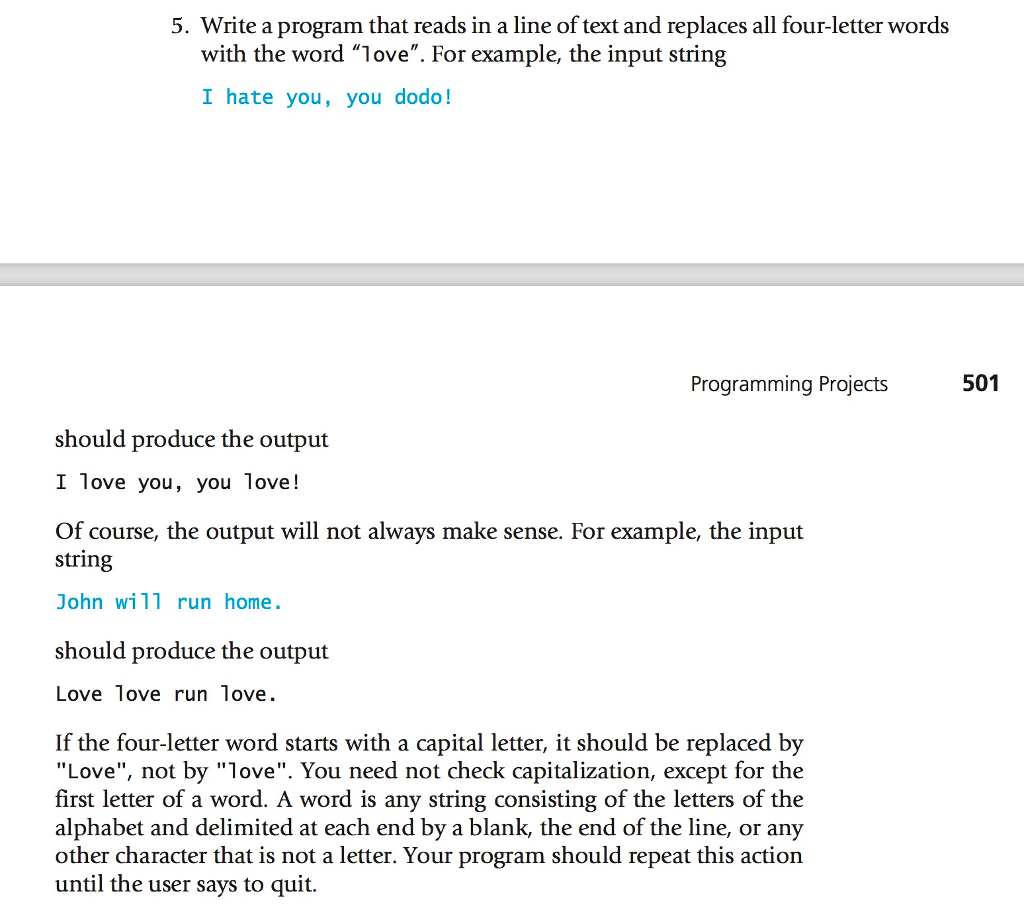 Solved: 5. Write A Program That Reads In A Line Of Text An... | Chegg.com