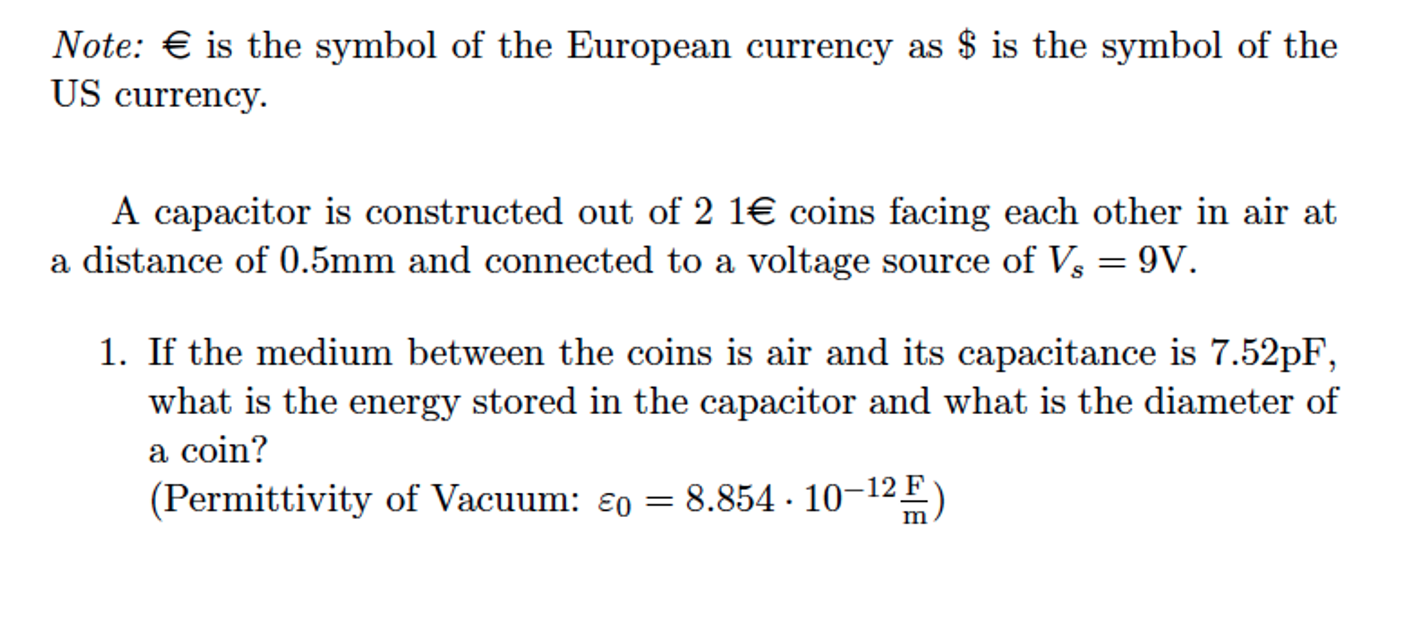 Solved: Note: € Is The Symbol Of The European Currency As ...
