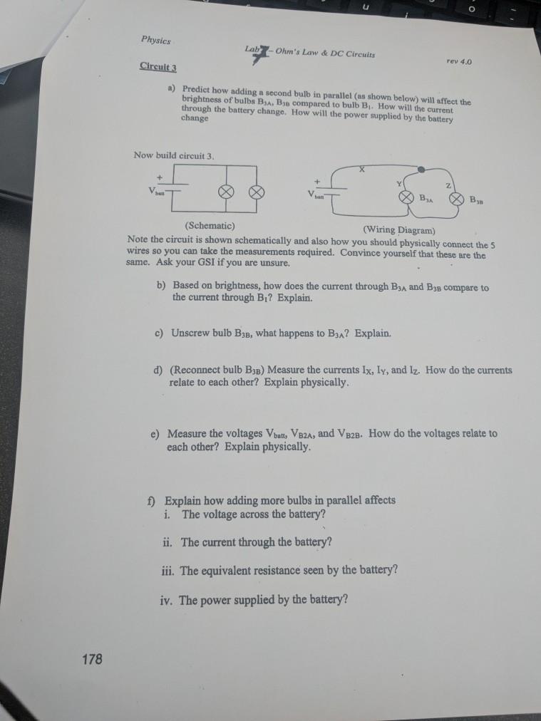 Solved: Physics Lab Ohm\'s Law & DC Circuits Rev 4.0 Circui ...
