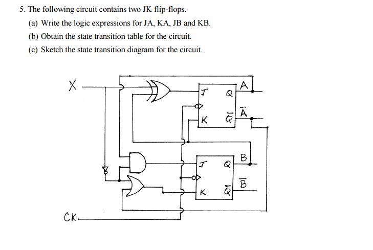 Jk Flip Flops Containing Circuit Diagram Residential Electrical