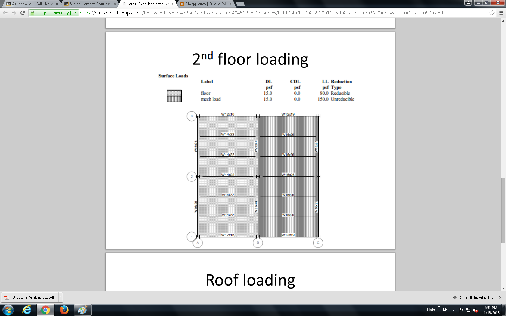Load Calculations Two Story Steel Building Two S