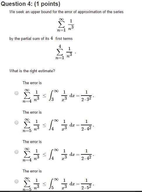 integral test