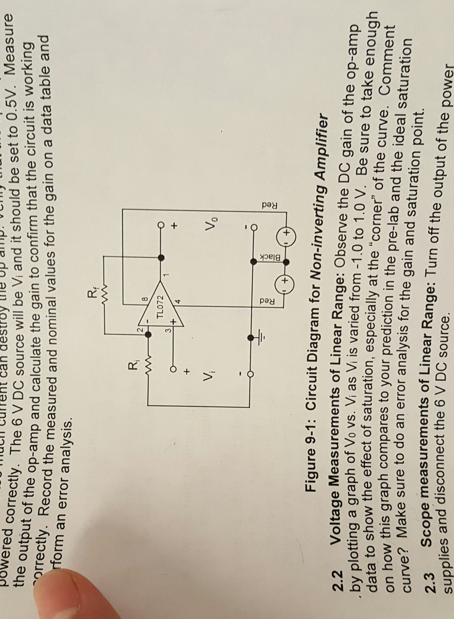 1 Use The Circuit To Design A Non Inverting Ampli Amp Is Noninverting Amplifier