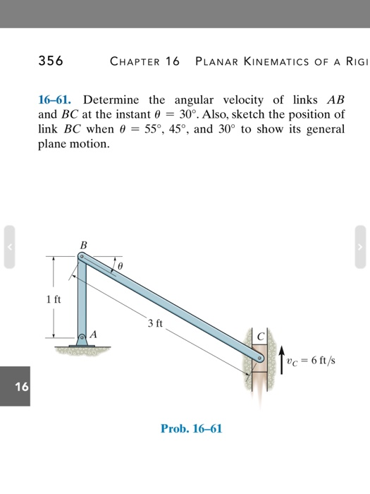 Solved: Determine The Angular Velocity Of Links AB And BC