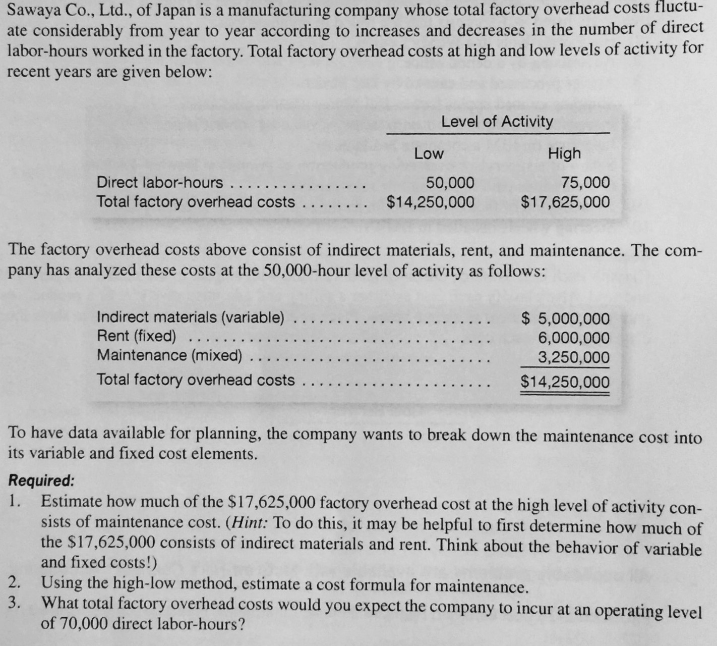 the following overhead data are for a department of a large company Connect - managerial accounting chapter 4 1 compute a departmental overhead rate for the molding department based on machine hours and a department overhead rate for the trimming department based on direct labor the following data relates to mangini company's estimated amounts for next.