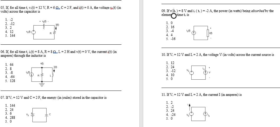solved 05 if for all time t v t 12 v r 6 c2f and i rh chegg com
