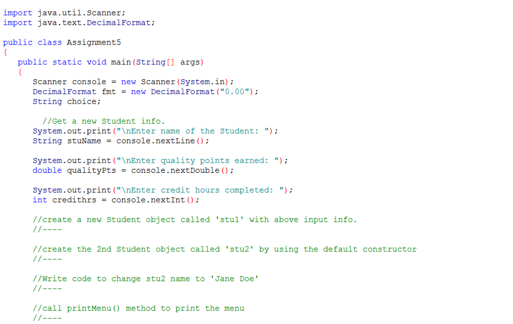 Solved: Please Help Me Complete This Java By Fill The Code