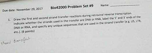 Reverse Due Date >> Solved Due Date November 29 2017 Bi 042000 Problem Set