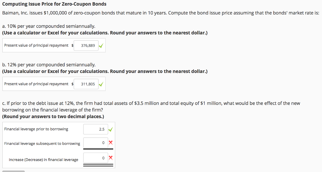 Solved: Computing Issue Price For Zero-Coupon Bonds Baiman