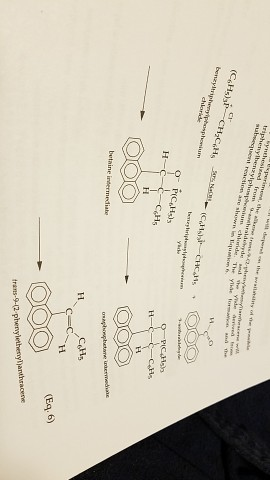 Question Calculate The Theoretical Yield In Grams Of Trans 9 2 Phenylethenylanthracene A Wittig Reactio