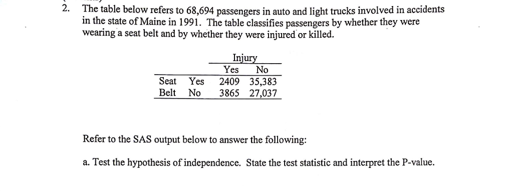 Solved: 2  The Table Below Refers To 68,694 Passengers In