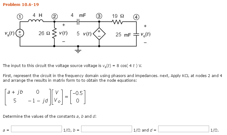 The Input To This Circuit The Voltage Source Volta... | Chegg.com