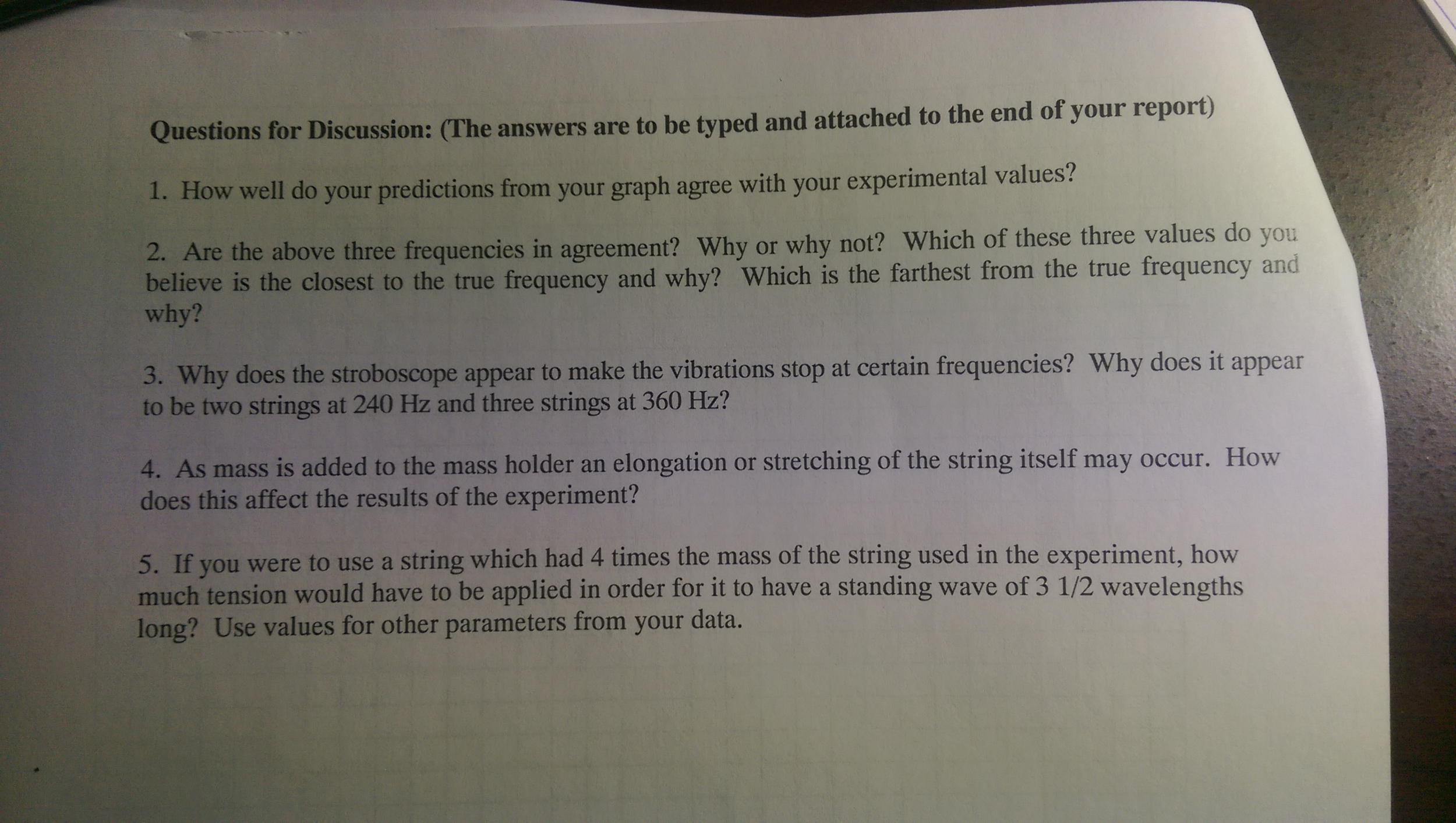 Solved Please Answer These 5 Discussion Questions Based