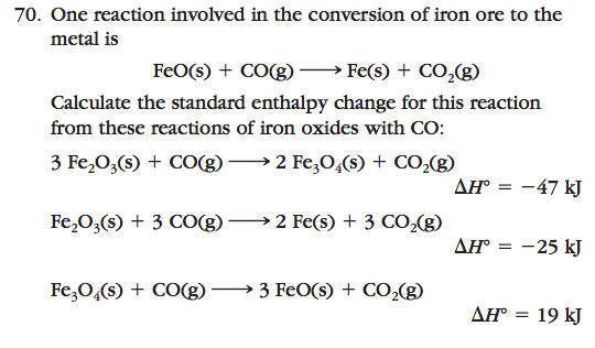 how to compare enthalpy change of reactions