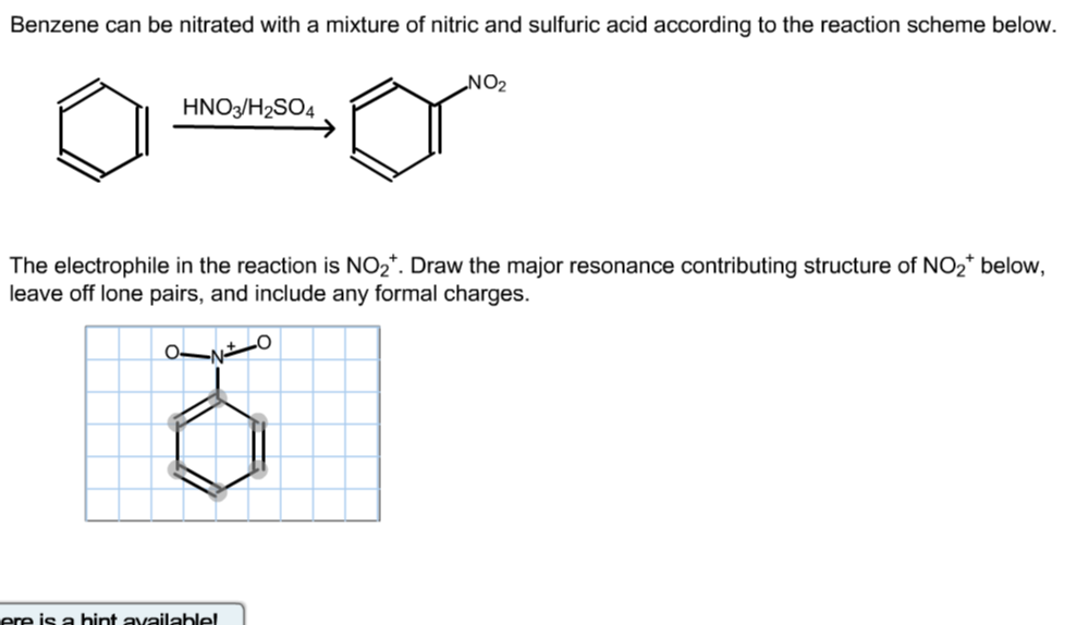 Solved Benzene Can Be Nitrated With A Mixture Of Nitric A