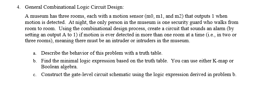 Electrical engineering archive november 01 2015 chegg image for 4 general combinational logic circuit design a museum has three rooms keyboard keysfo Choice Image
