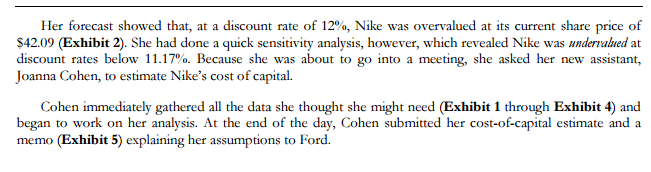 nike inc what is the wacc and why is it important to estimate a firm s cost of capital What is the wacc and why is it important to estimate a firm's cost of capitaldo you agree with joanna cohen's wacc calculation why or why not  nike, inc cost of capital  why or why not if you do not agree with cohen's analysis, calculate your own wacc for nike and be prepared to justify your assumptions calculate the costs of.