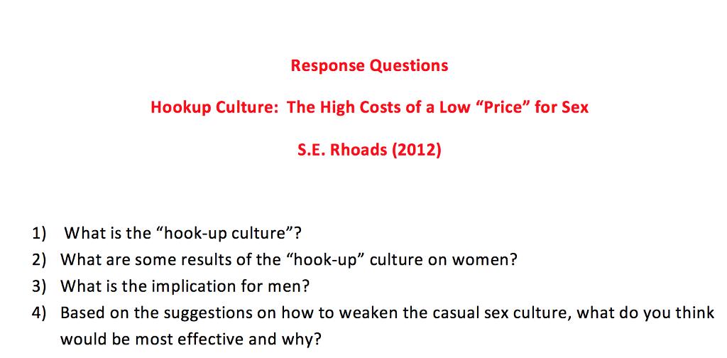hookup culture and men