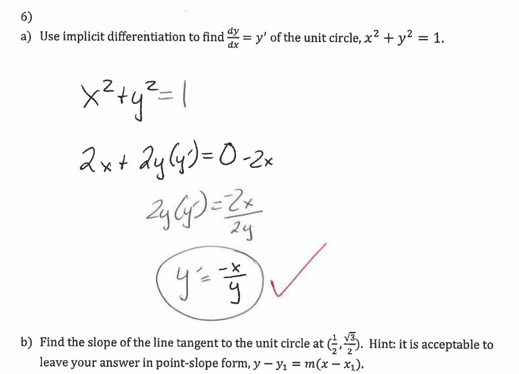 Solved 6 A Use Implicit Differentiation To Find Axy O