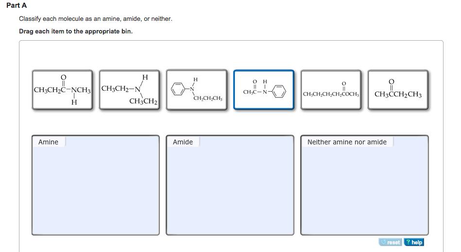 Solved: Classify Each Molecule As An Amine, Amide, Or