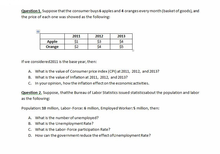 Solved: Kindly Answer These Economic Questions | Chegg.com