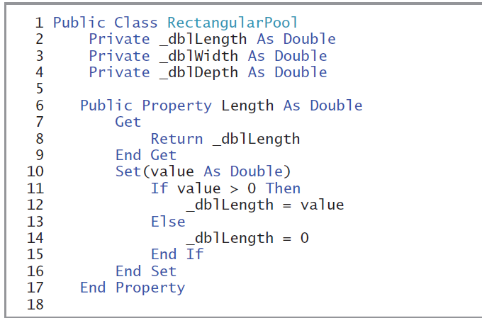 Solved: Class Example: Clearly Visual Basic: Programming W