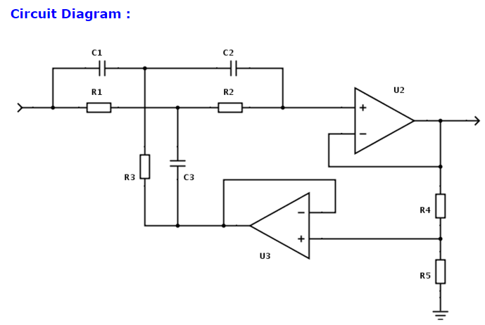 Solved: I Was Given This Circuit For A Twin-T Notch Filter ... on