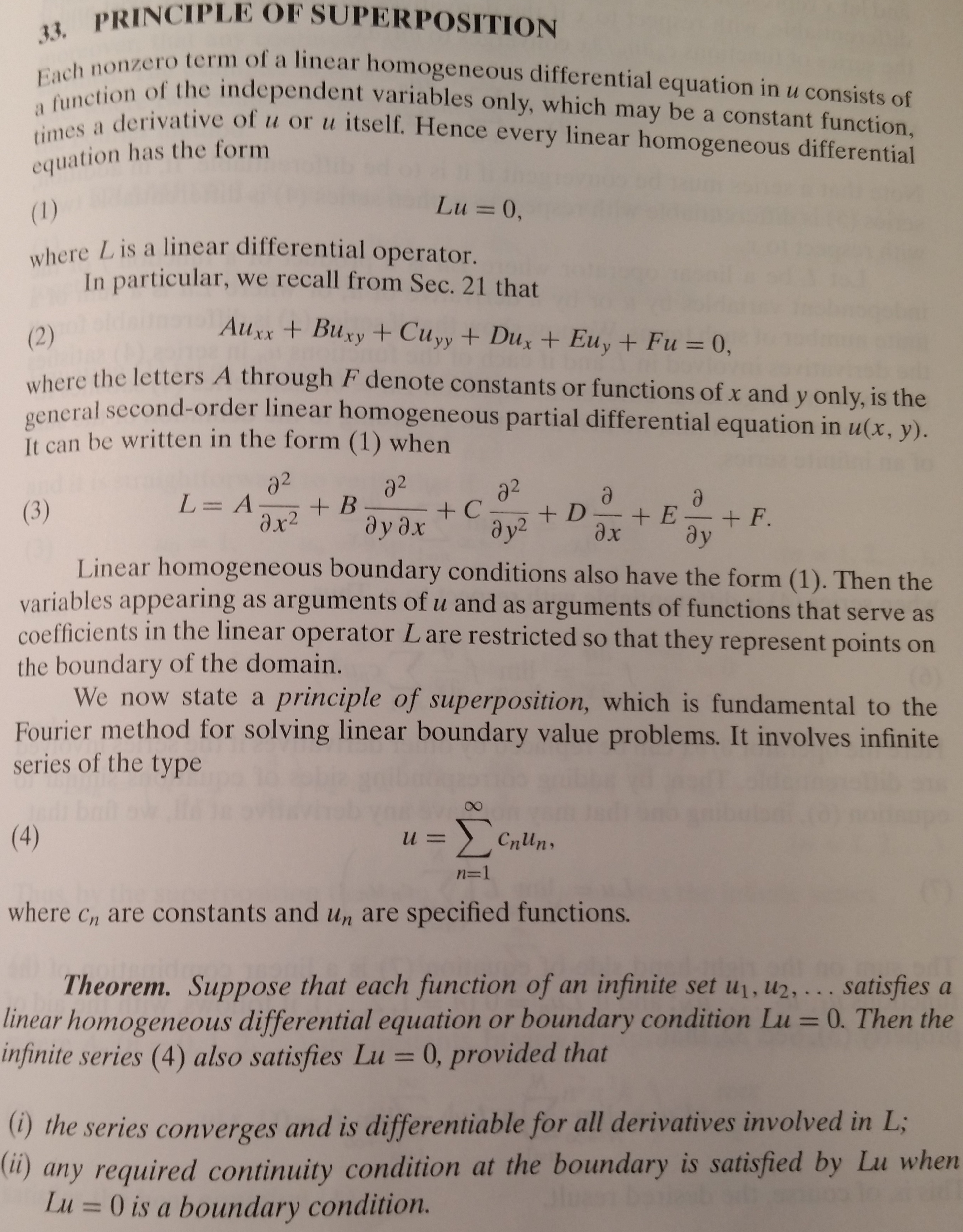 Solved 3 Verify That Each Of The Functions 140 Y Un S Superposition Principle And Fourier Sinh Ny Cos Nx Satisfies Laplaces Equation Sec 23 11xx X Uyx 0