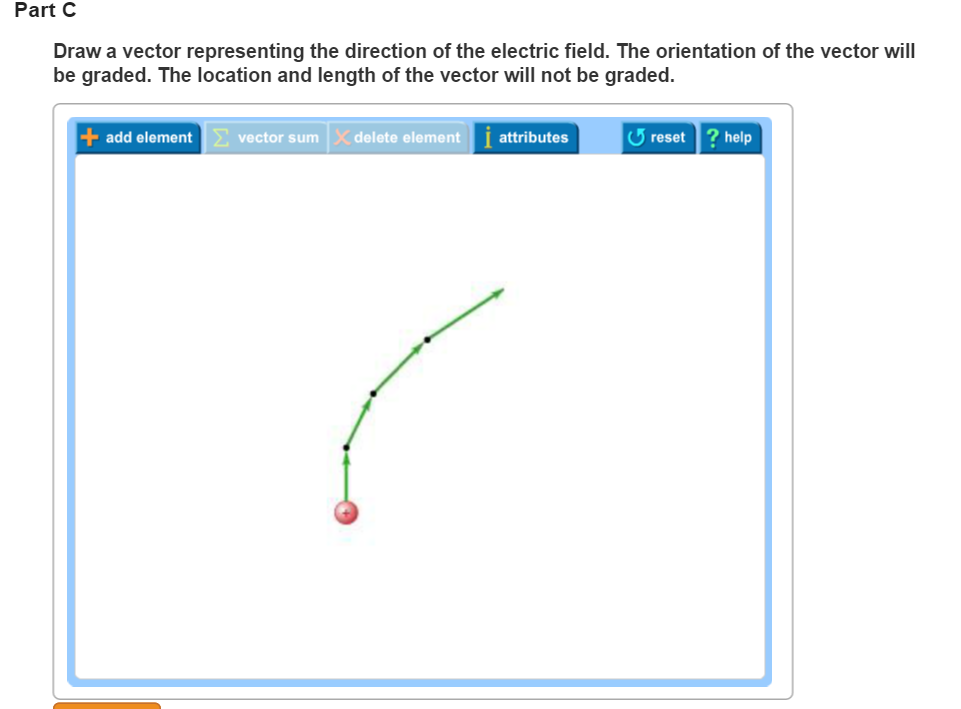 Solved electric field vector drawing each of the four par part c draw a vector representing the direction of the electric field the orientation of ccuart Images