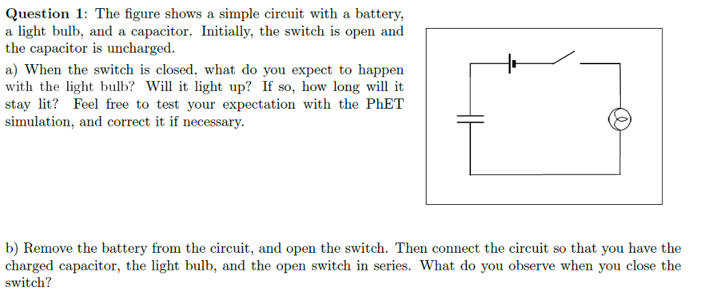Solved: The Figure Shows A Simple Circuit With A Battery ...