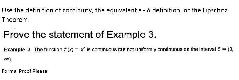 Use The Definition Of Continuity, The Equivalent S