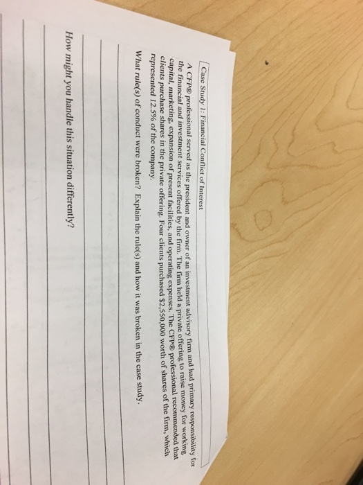 cfp case study answers