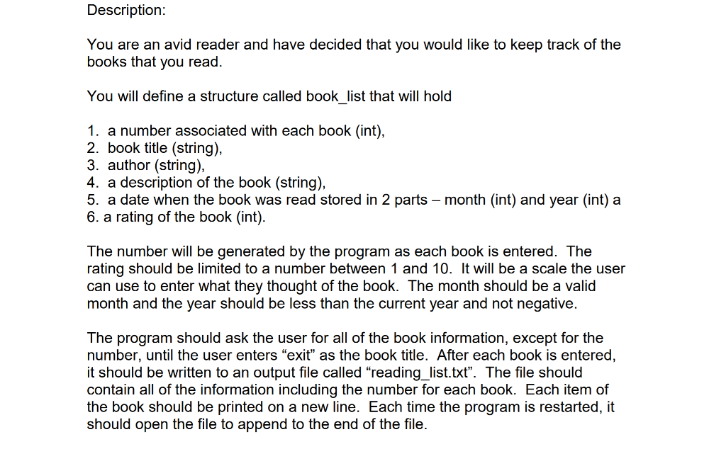 solved description you are an avid reader and have decide