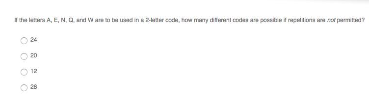 Solved: If The Letters A, E, N, Q, And W Are To Be Used In