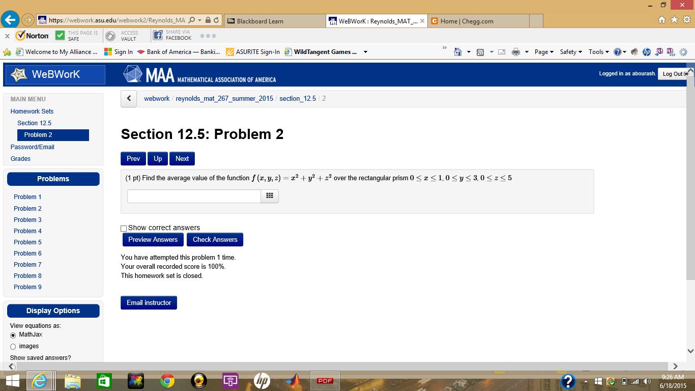 Solved: Https://webwork asu edu/webwork2 Reynolds MA P N C
