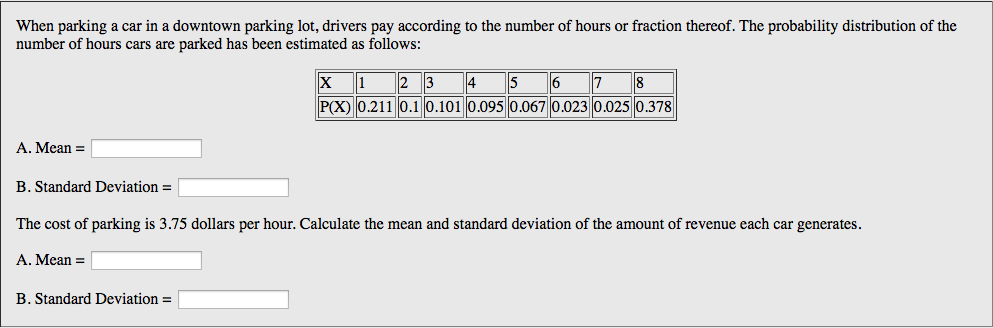 Solved: Find The Mean, Variance And Standard Deviation For