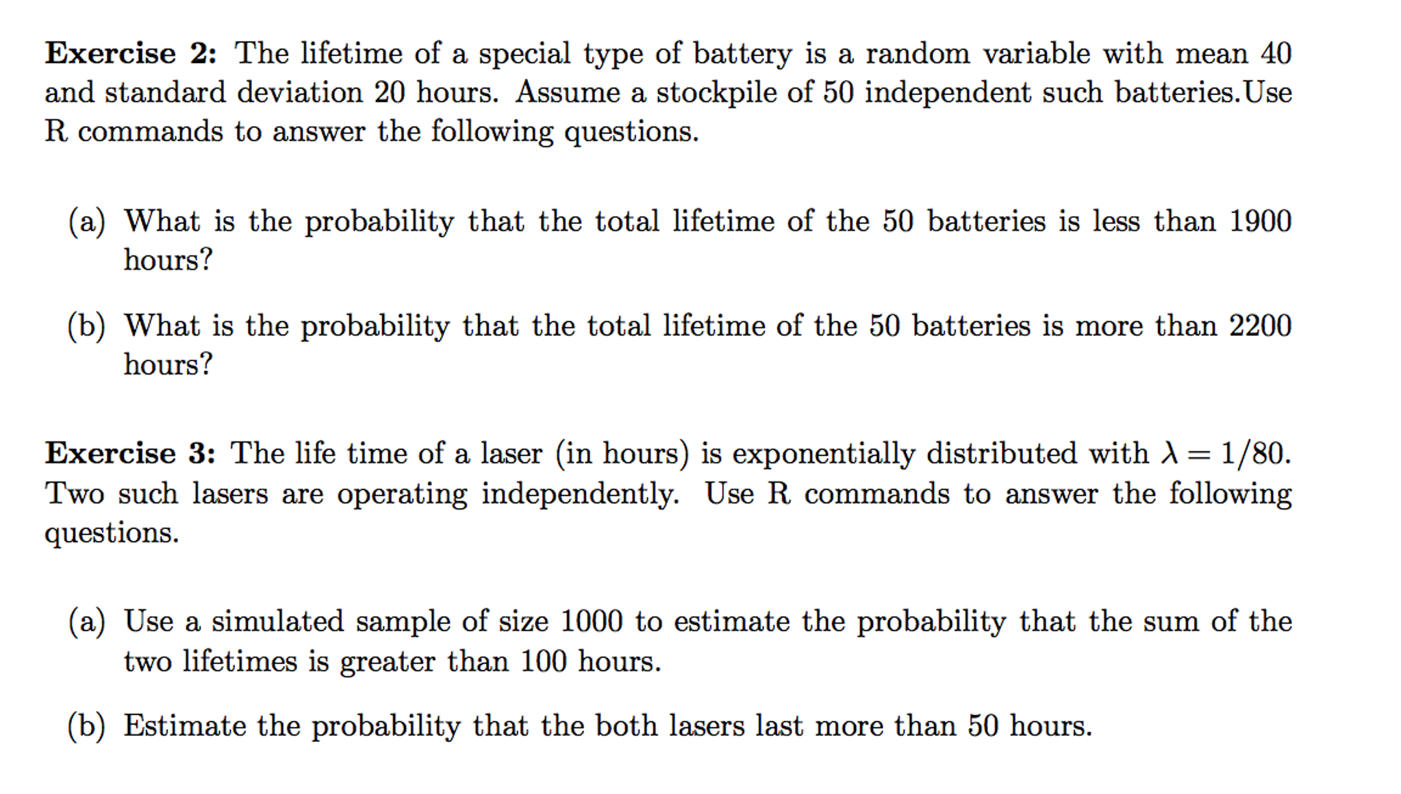 The Lifetime Of A Special Type Of Battery Is A Ran