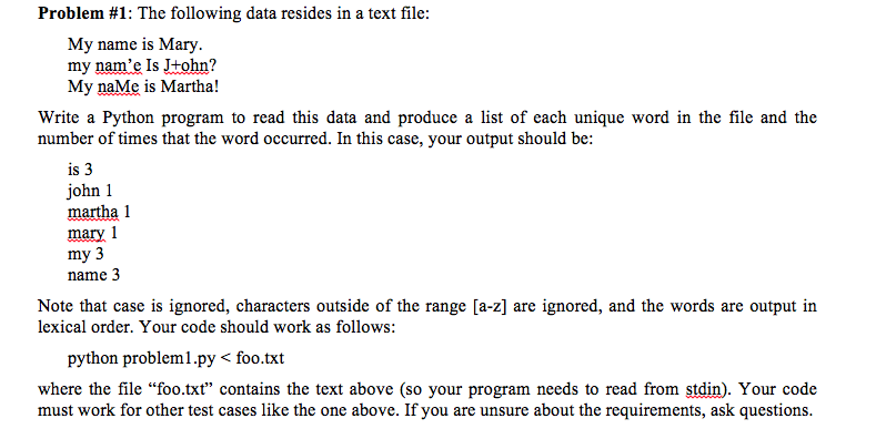 Solved: The Following Data Resides In A Text File: My Name