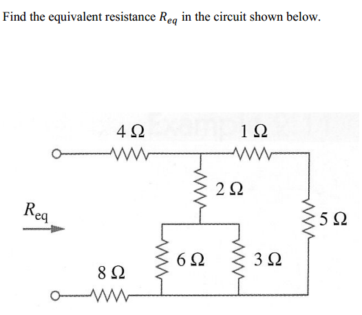 solved find the equivalent resistance req in the circuit rh chegg com