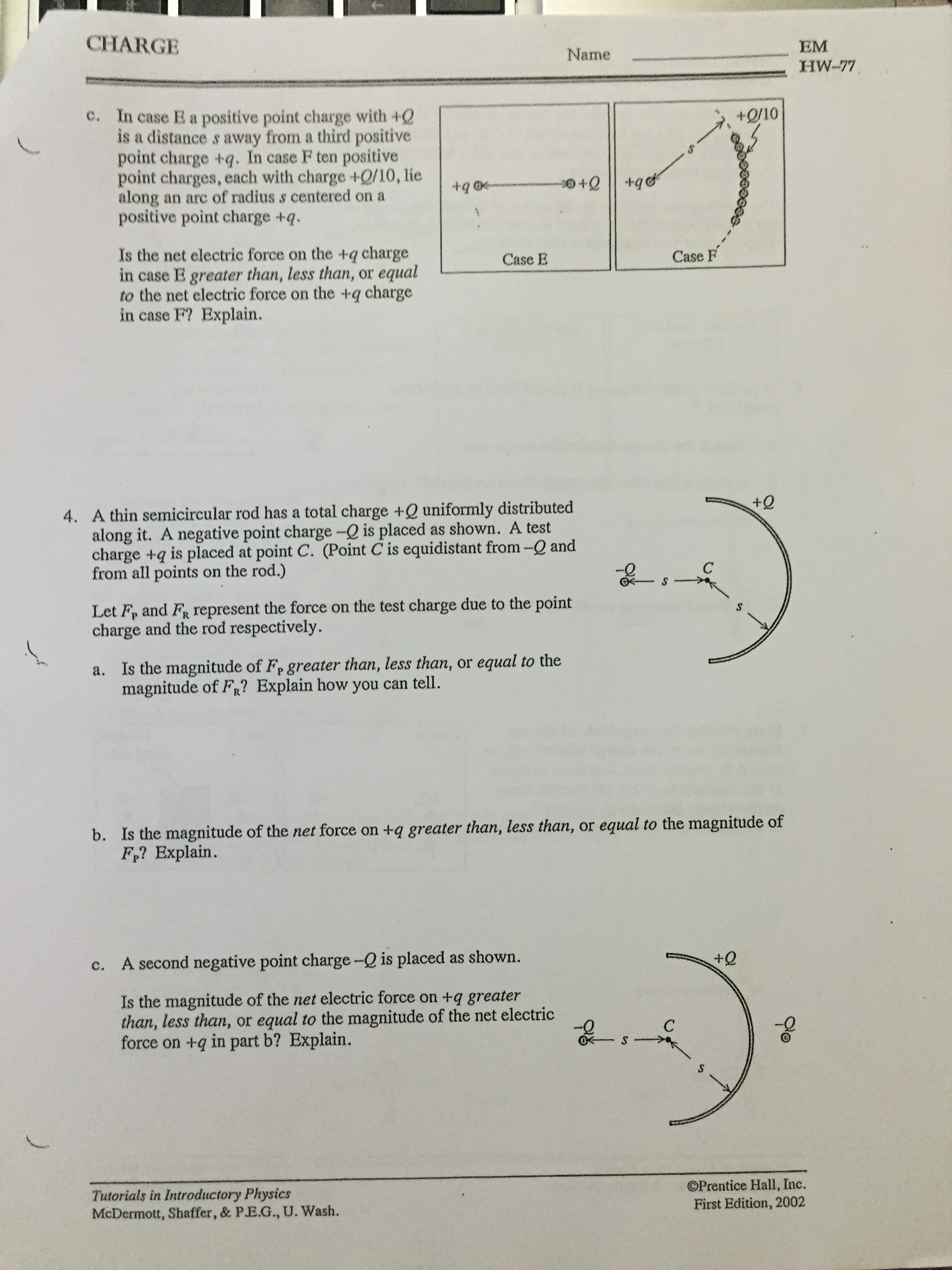 tutorials in introductory physics homework charge com tutorials in introductory  physics homework charge
