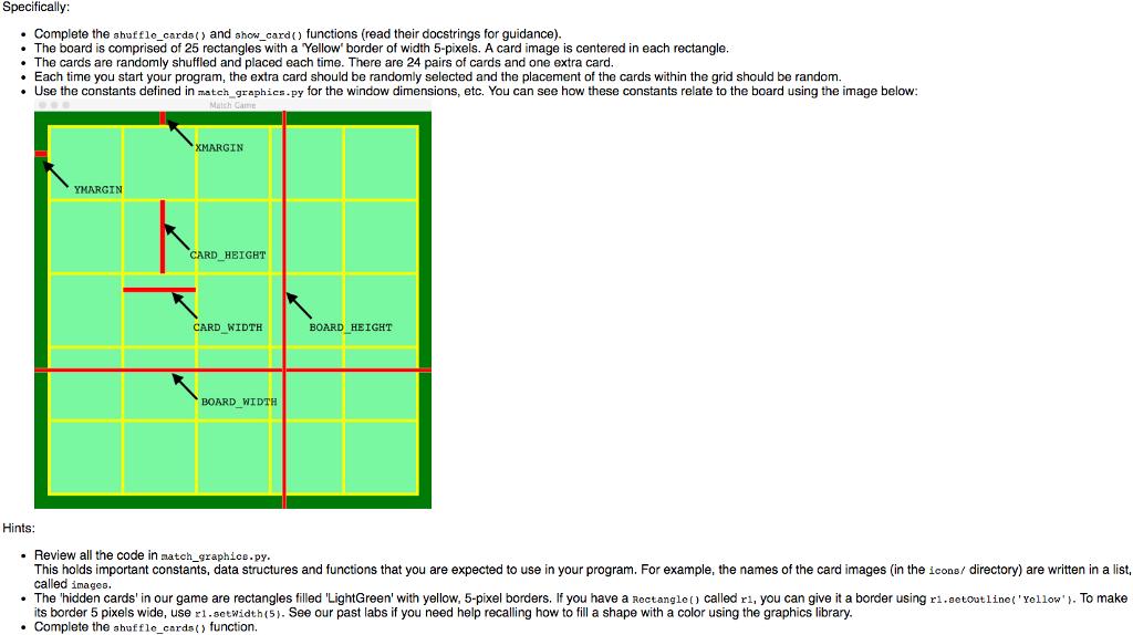 Solved: Python Program  Make A Simple Matching Game Using
