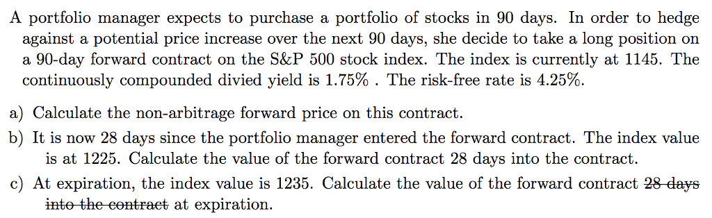 solved a portfolio manager expects to purchase a portfoli
