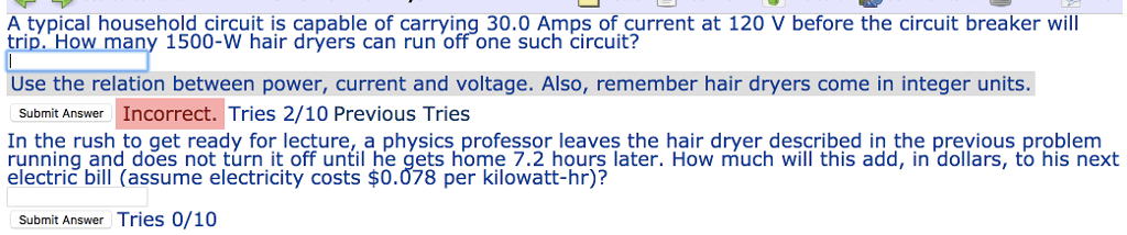 Solved: A Typical Household Circuit Is Capable Of Carrying ...