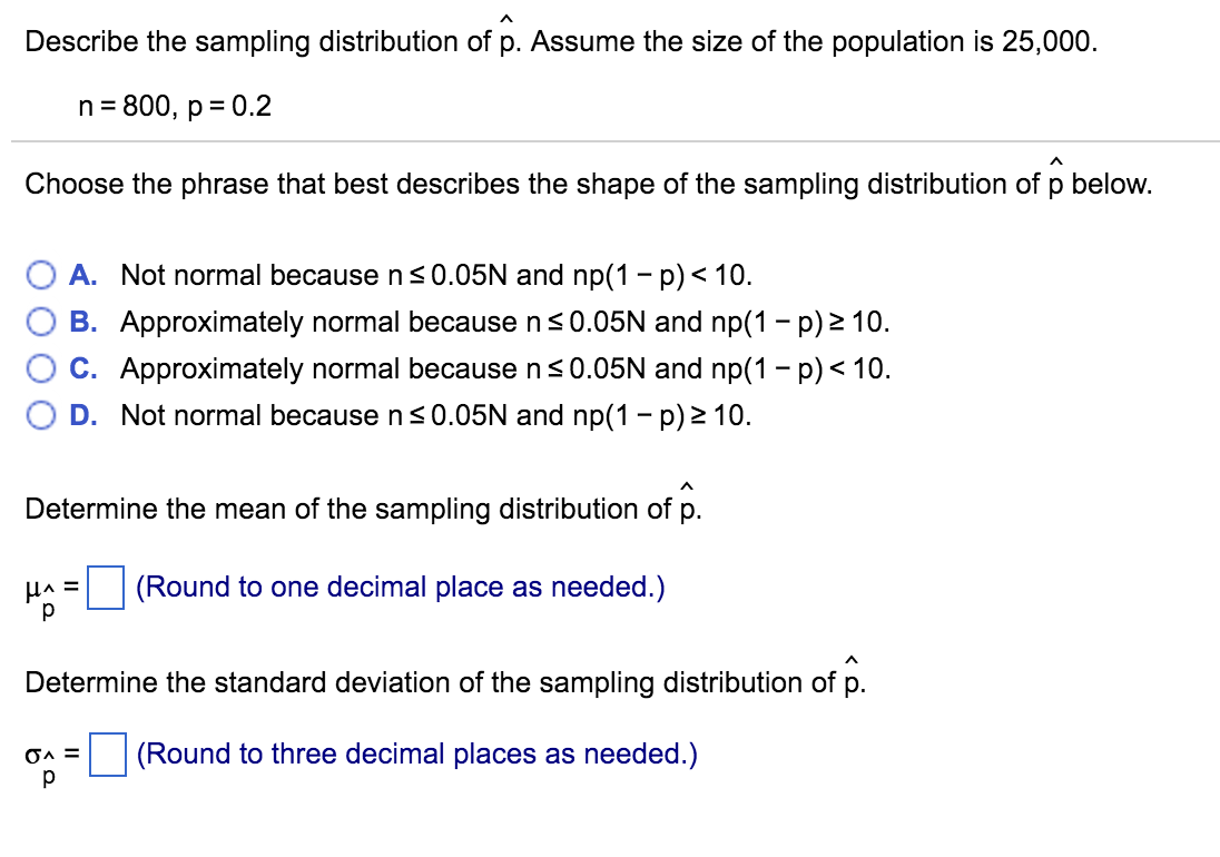 Statistics and probability archive march 31 2016 chegg describe the sampling distribution of p assume th geenschuldenfo Images
