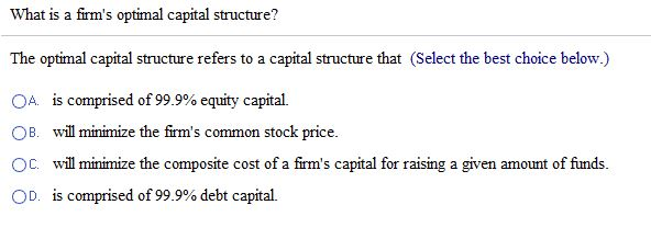 optimal capital structure essay