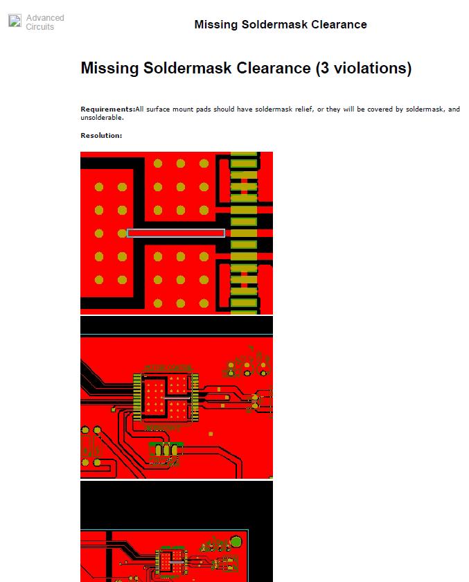 Missing Solder Mask In EAGLE PCB Design, Does Any       Chegg com