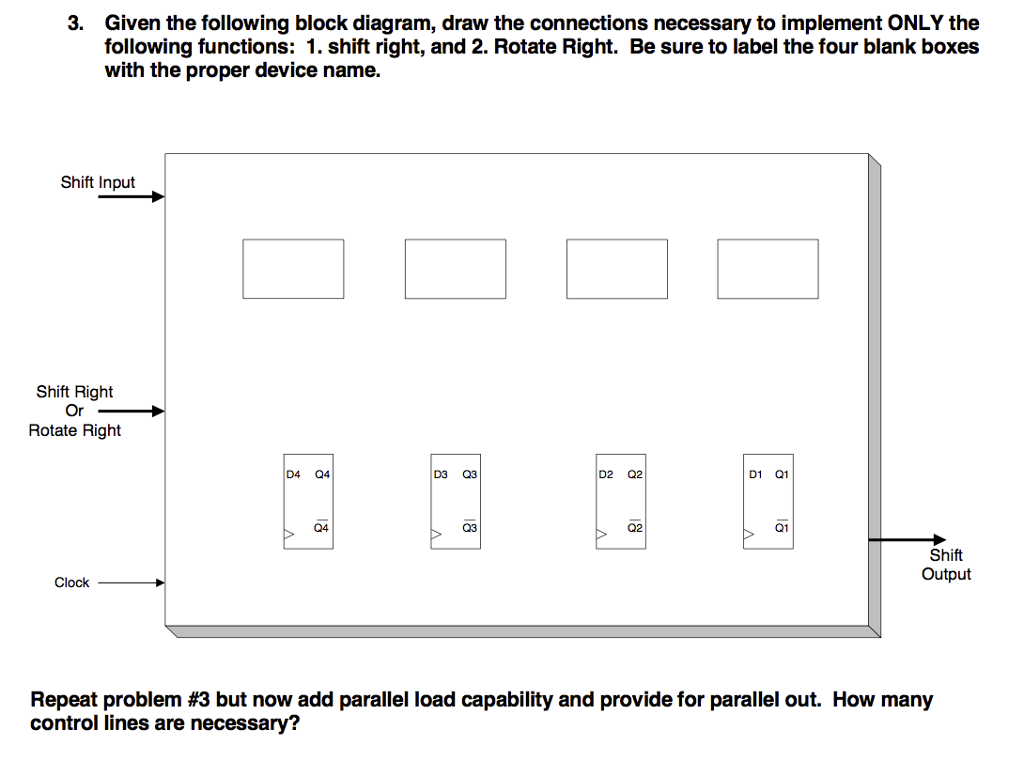 Solved 3 Given The Following Block Diagram Draw The Con