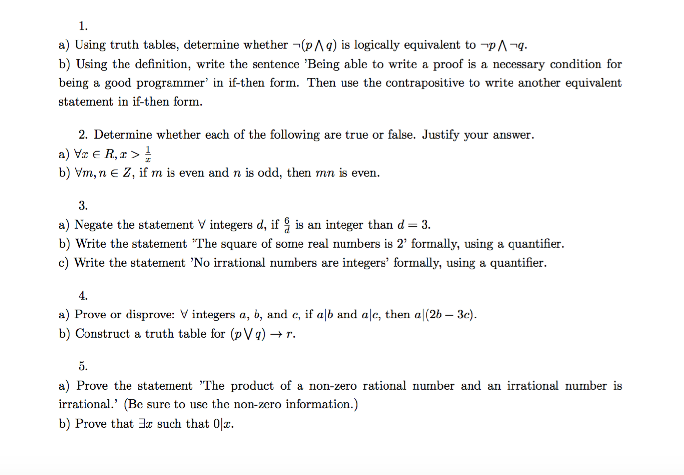 solved: using truth tables, determine whether (p n q) is l
