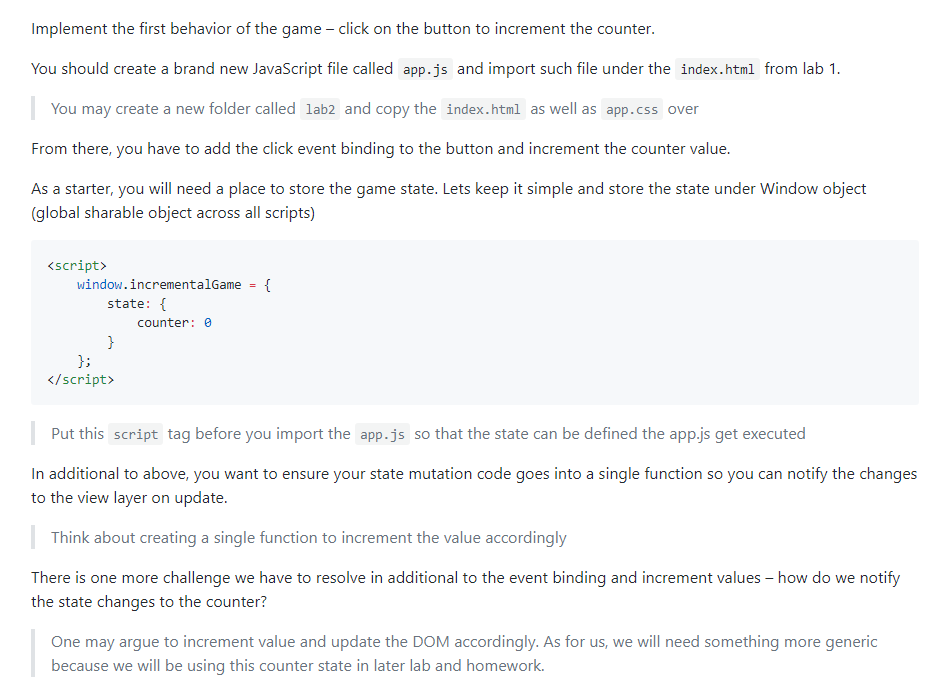 Implement The First Behavior Of The Game - Click O    | Chegg com
